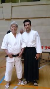 Yamada-sensei, junto a uno de los miembros de la asociación