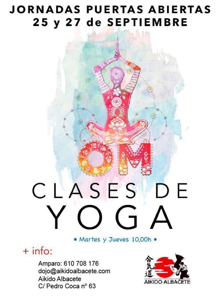 Yoga – Jornadas de puertas abiertas en Albacete